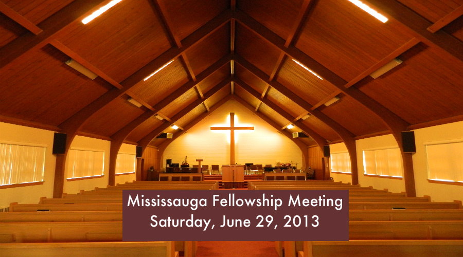 Fellowship Meeting 2013 – Saturday