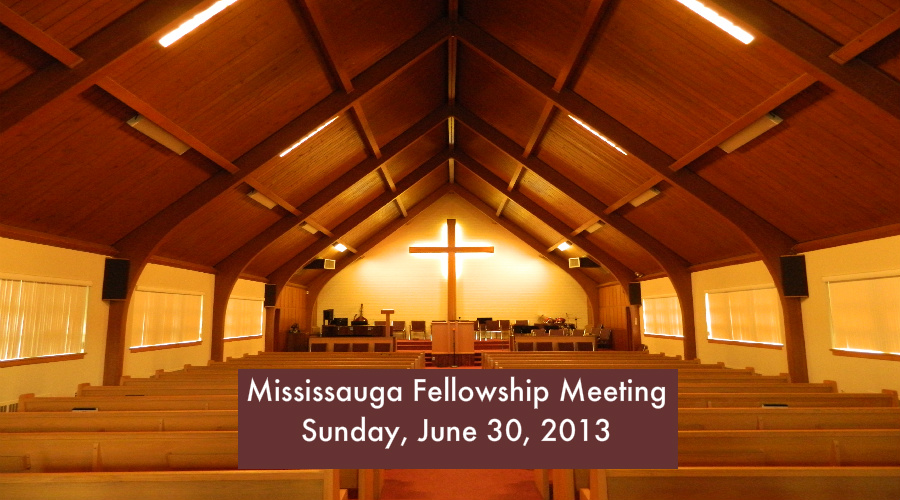 Fellowship Meeting 2013 – Sunday